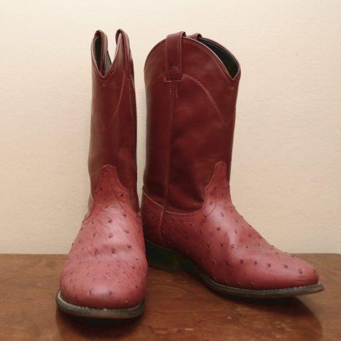 Punaiset second hand western bootsit koko 39