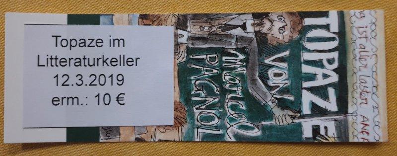 """12.03.2019: Topaze im """"kleinsten Theater der Welt"""""""