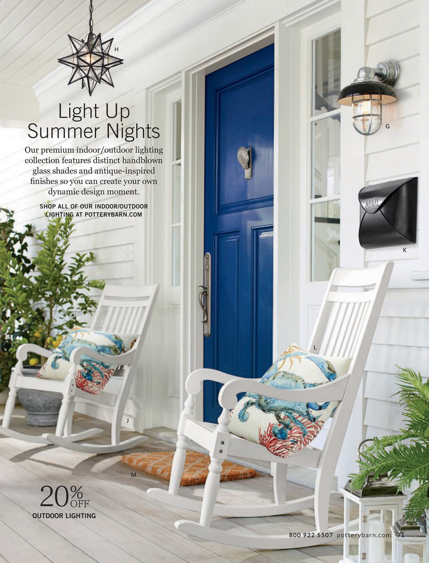 pottery barn outdoor 2017