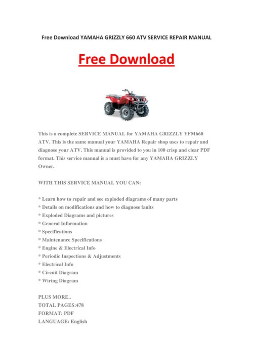 small resolution of my publications yamaha grizzly 660 atv service repair manual yamaha atv grizzly 660 wiring diagram