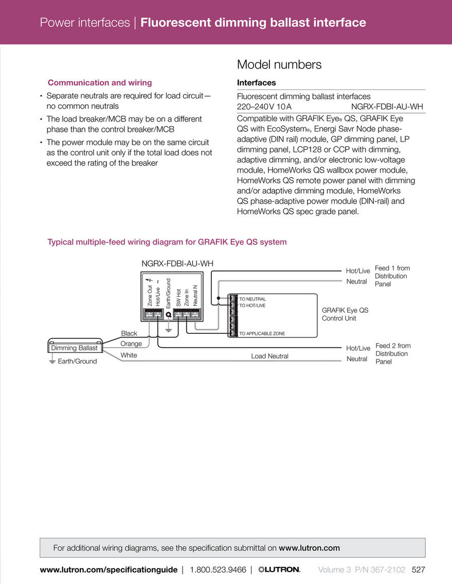 medium resolution of power interfaces fluorescent dimming ballast interface model numbers communication and wiring interfaces separate neutrals are