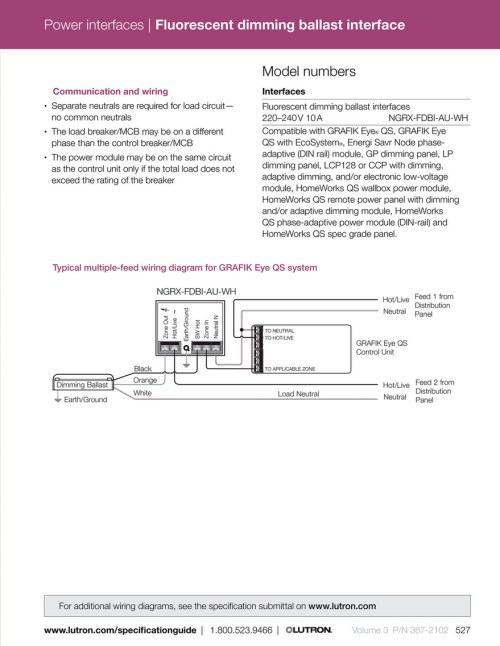 small resolution of power interfaces fluorescent dimming ballast interface model numbers communication and wiring interfaces separate neutrals are