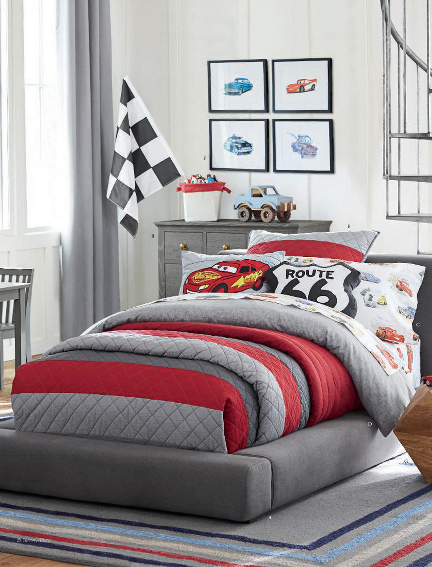 cars route 66 shaped pillow