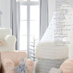 Anywhere Chair Insert Shabby Chic Living Room Chairs Pottery Barn Kids Pbk Merry And Bright 2017 Blush Faux Fur A Is