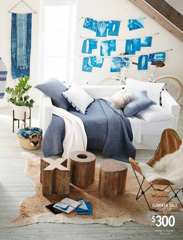 Sleep and Study Loft Pottery Barn Teen
