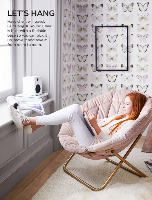 hang around chair pottery barn cover hire gateshead teen pbteen spring d1 2018 channel stitch a our round is