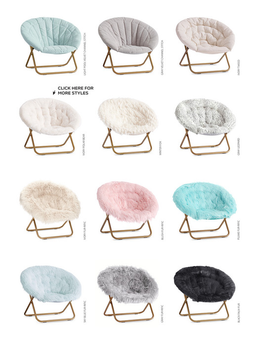 hang around chair pottery barn folding dining table and chairs set teen pbteen spring d1 2018 channel stitch a ivory fur rific blush plume sky blue let s have