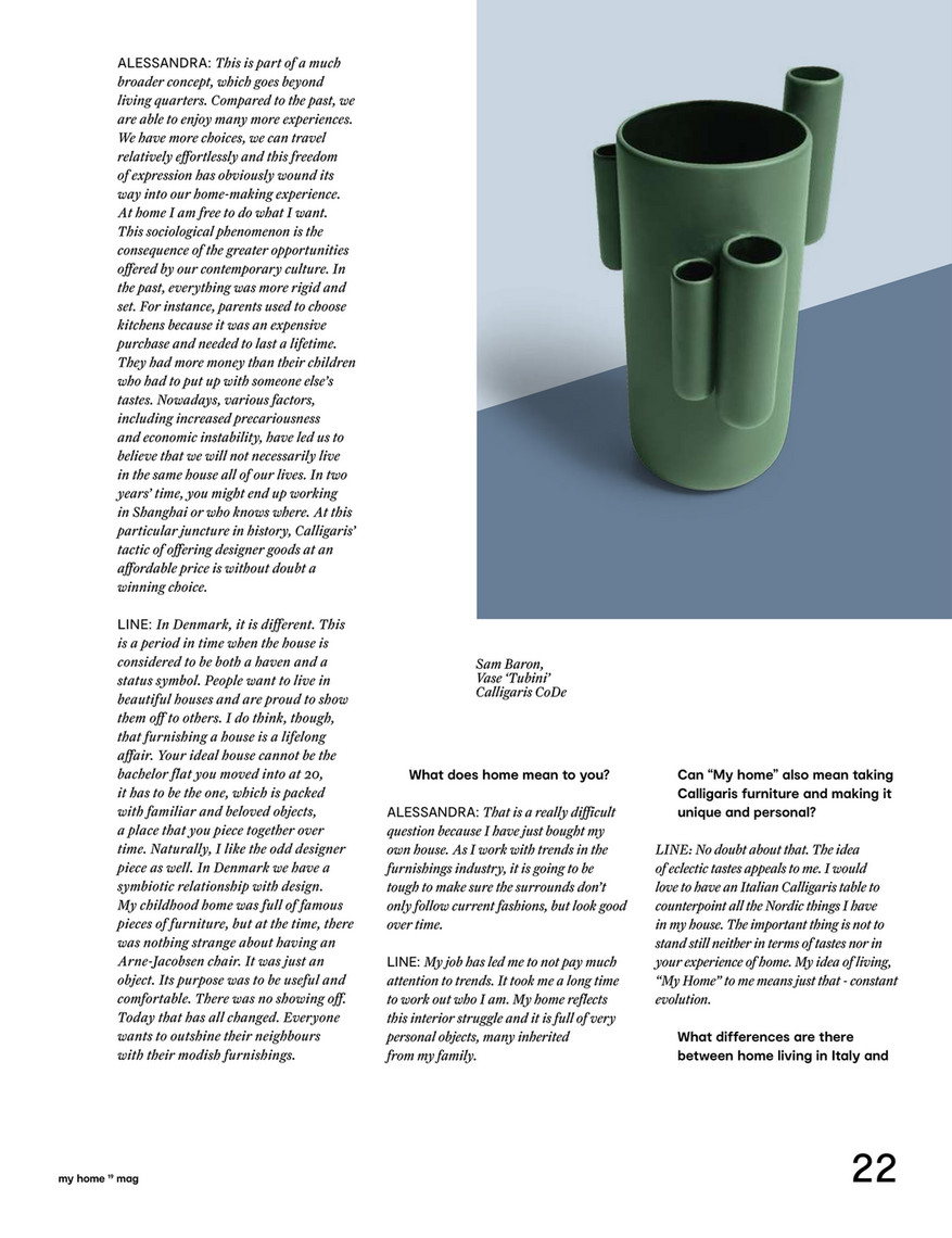 My Home 24 Furnitalia - Calligaris My Home 2019 Magazine - Page 24-25 - Created With Publitas.com