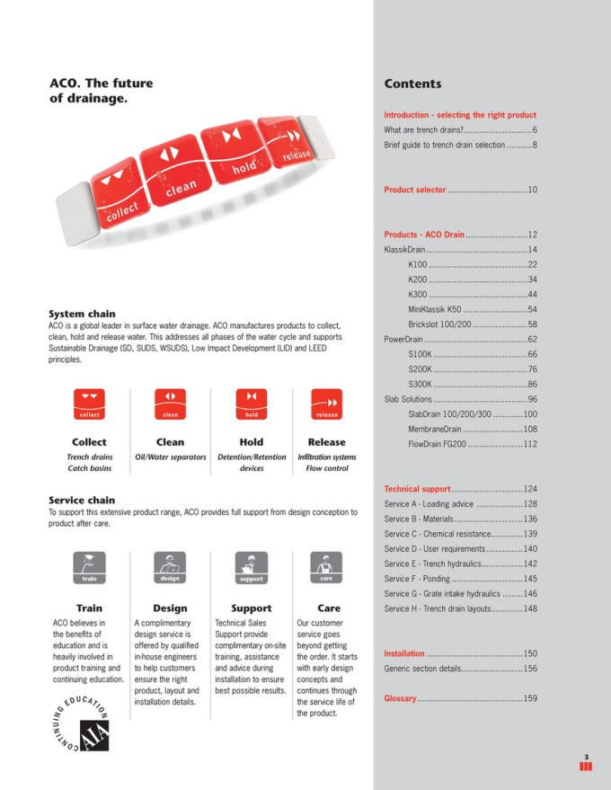 Aco Polymer Products Inc Aco Drain Technical Handbook Product Catalog Page 2 3 Created With Publitas Com
