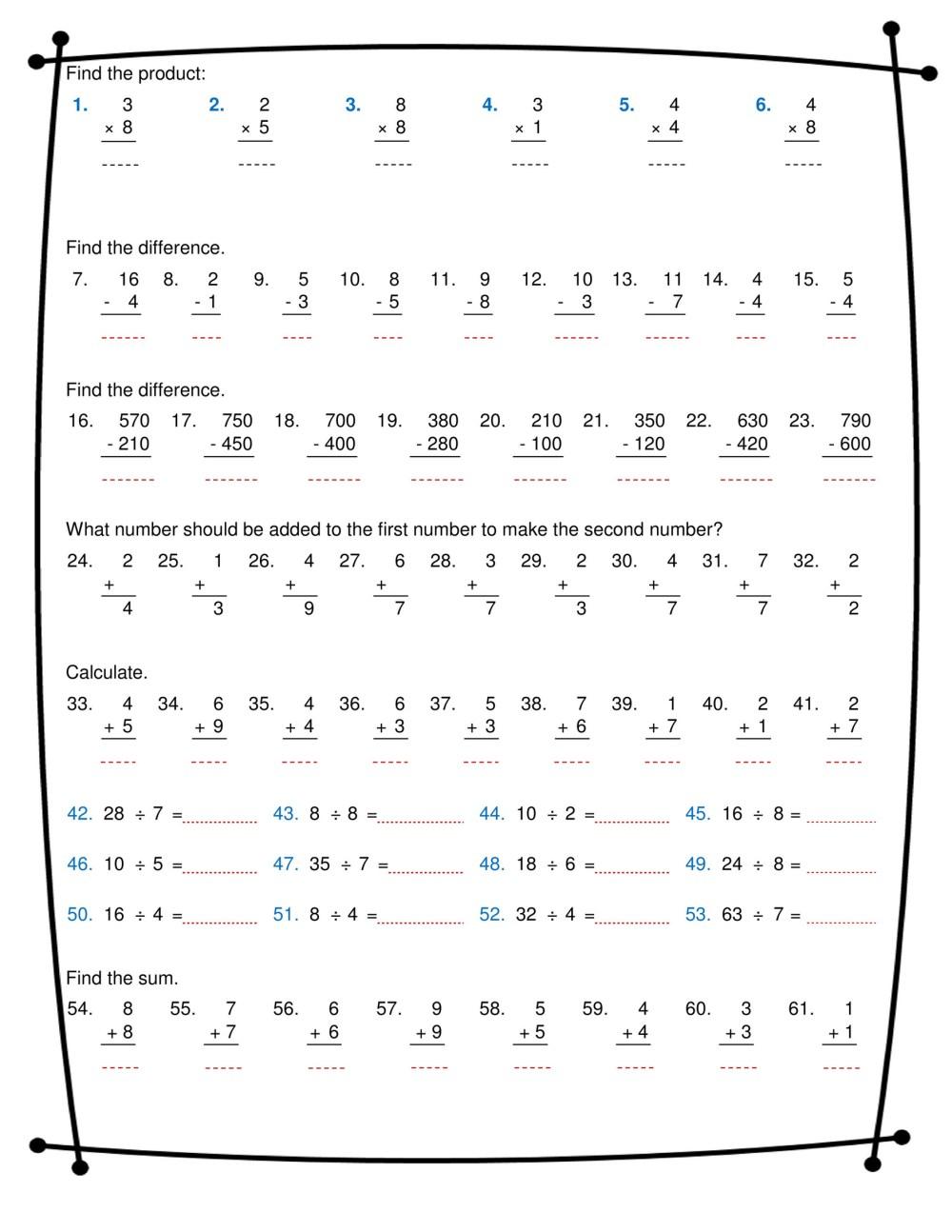 medium resolution of ninalazina - addition subtraction multiplication division worksheets pdf  Upload V2 - Page 1 - Created with Publitas.com