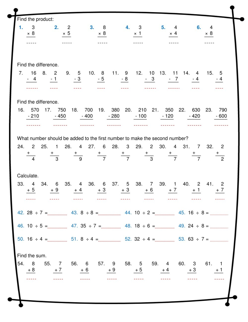 medium resolution of ninalazina - addition subtraction multiplication division worksheets pdf  Upload V2 - Page 1 - Created with Publitas.com