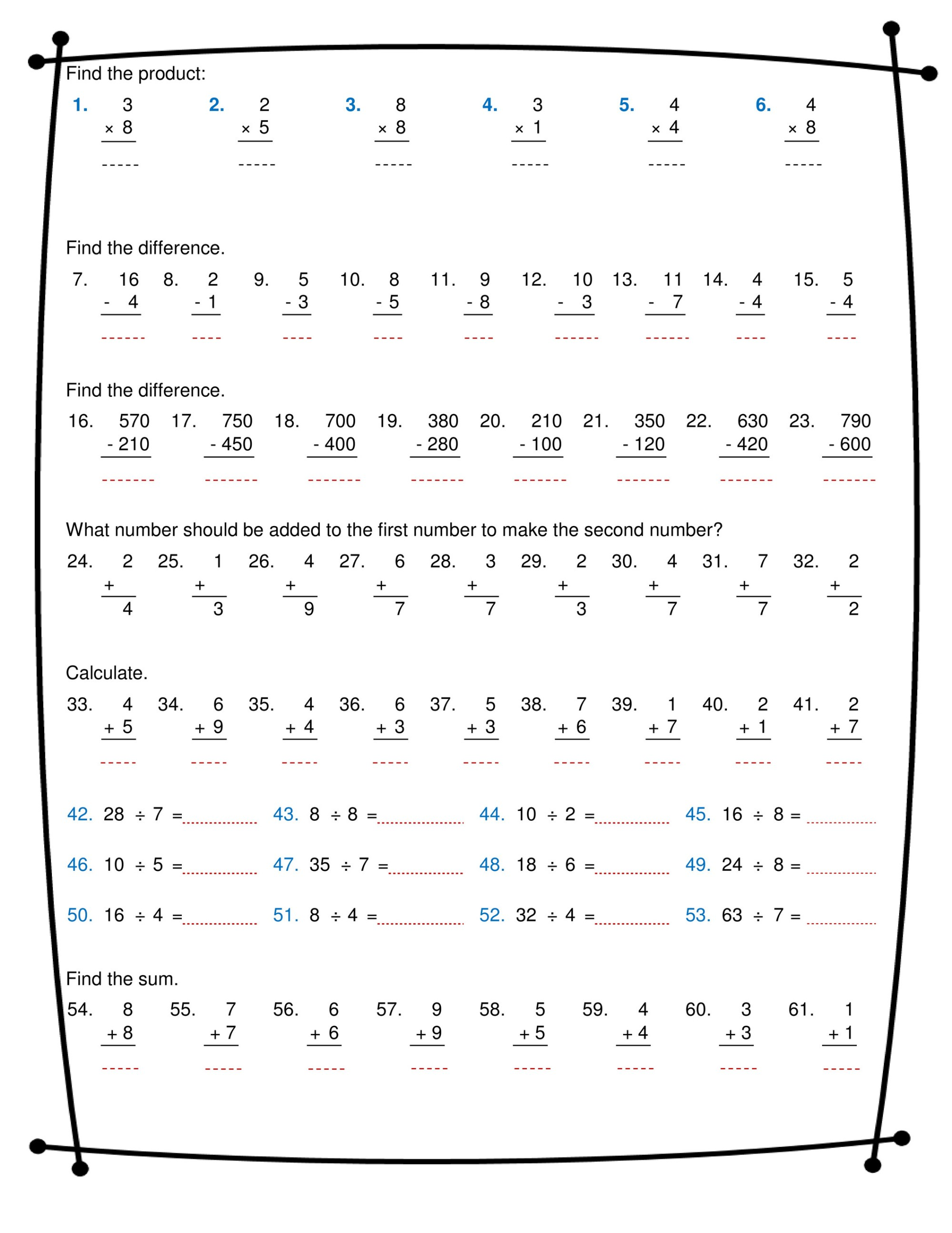 hight resolution of ninalazina - addition subtraction multiplication division worksheets pdf  Upload V2 - Page 1 - Created with Publitas.com