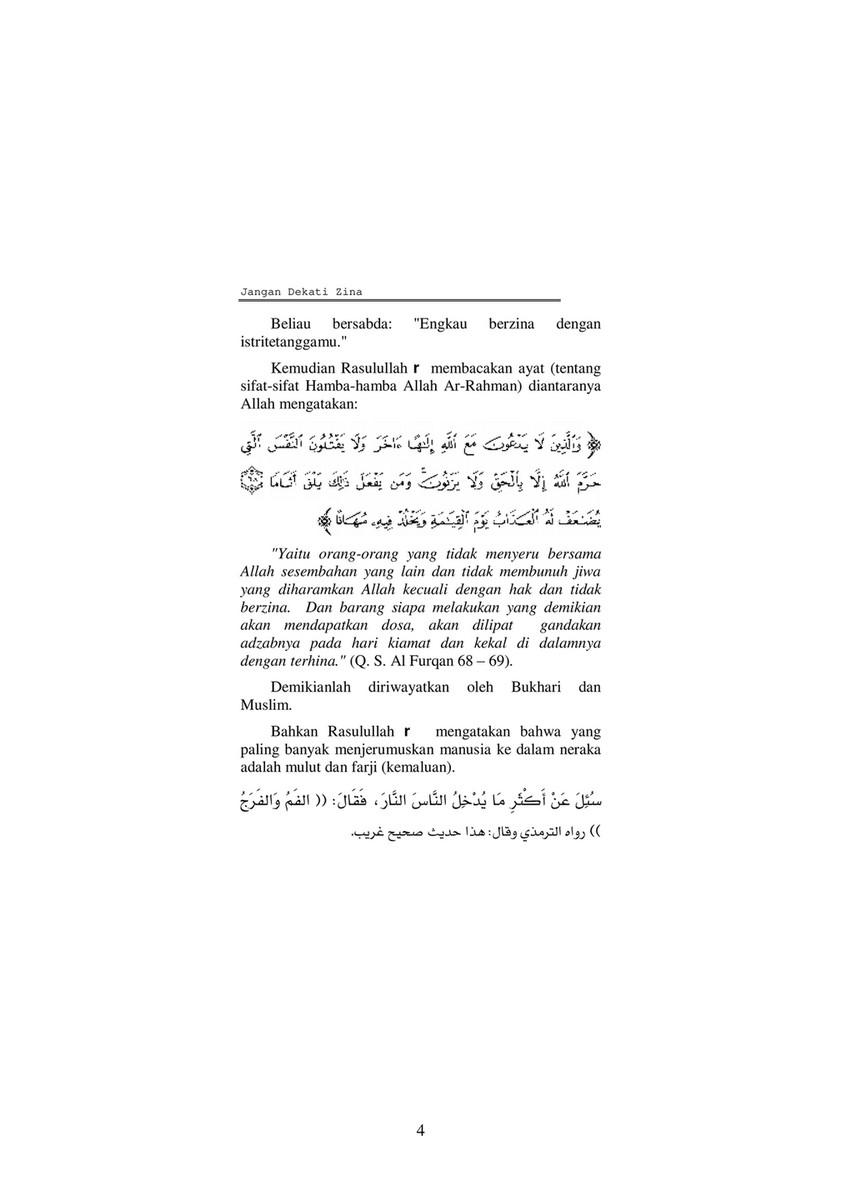 Ayat Jangan Mendekati Zina : jangan, mendekati, Publications, Dangerous, Adultery, Indonesian), Created, Publitas.com