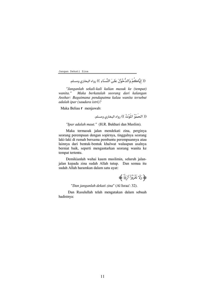 Ayat Jangan Mendekati Zina : jangan, mendekati, Publications, Dangerous, Adultery, Indonesian), 12-13, Created, Publitas.com
