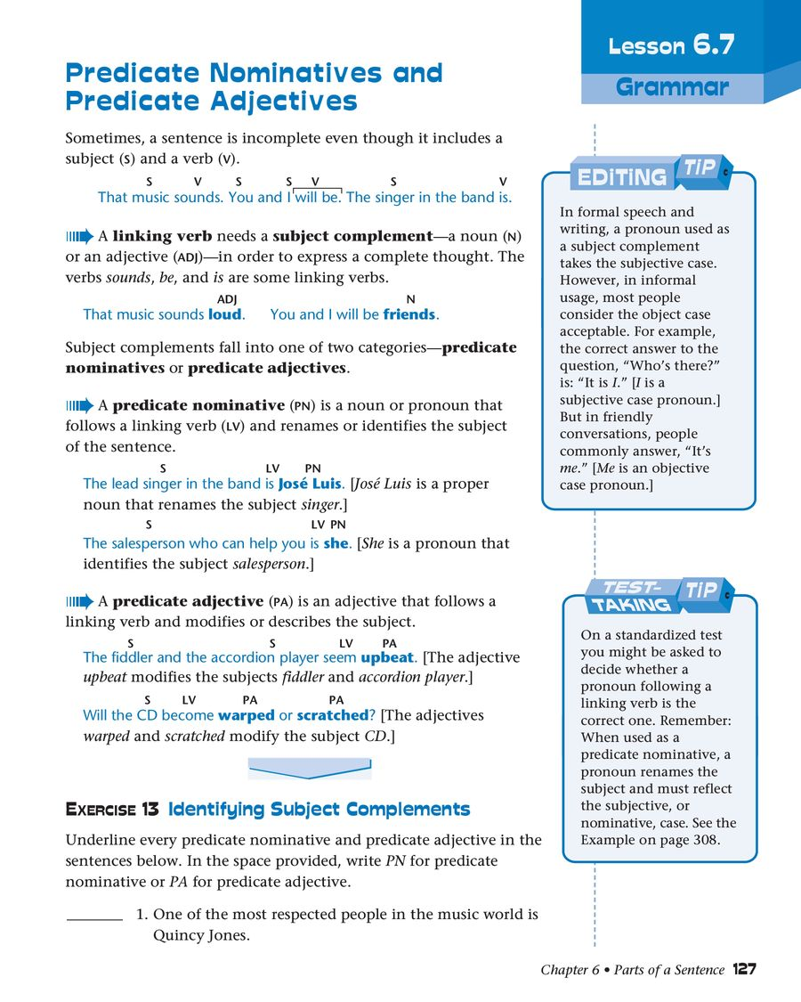 hight resolution of Grammar for Writing