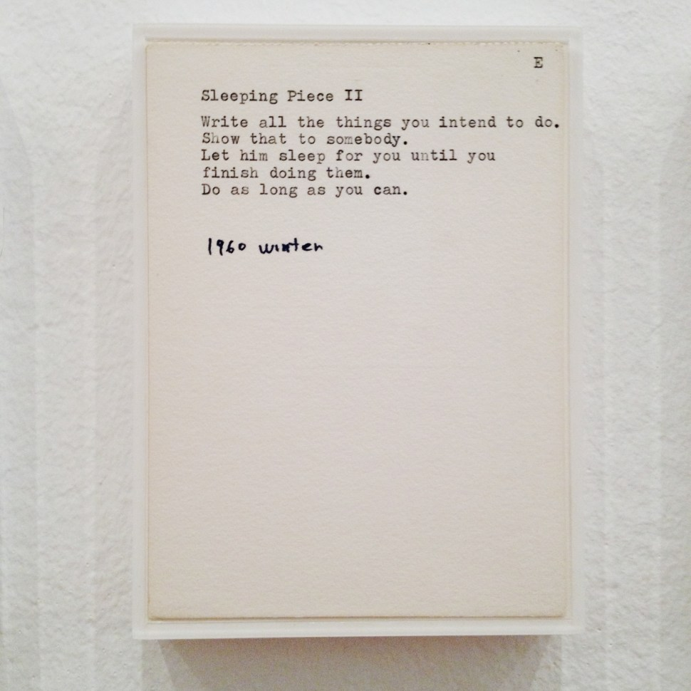 Sleeping Piece II by Yoko Ono
