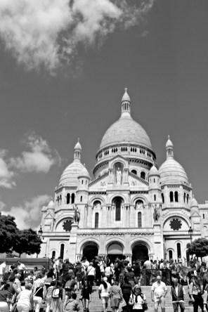 Paris: The classic view of the grandiose Sacre Coeur.