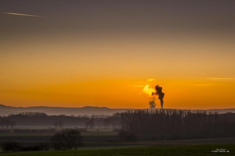 Sunset über Schladen/Harz
