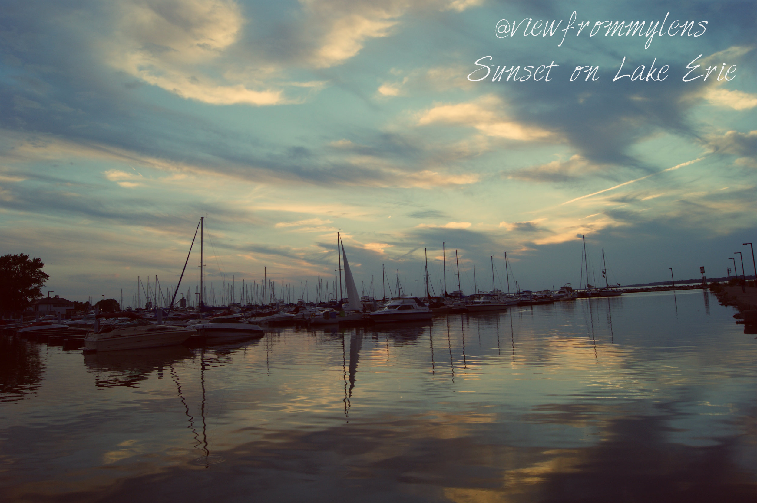 Sunset on Lake Erie #186