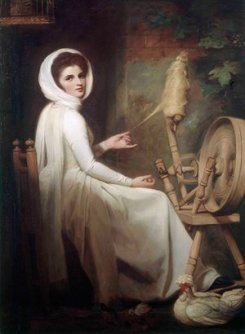 Emma as a Spintress, c.1784-5. The Iveagh Bequest, Kenwood House Collection, London