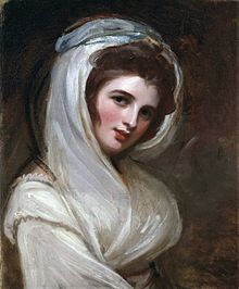 Another portrait of Emma by Romney, 1785. National Portrait Gallery