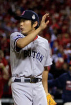 Koji Uehara's practicing for watching the ball fly over him when Craig bats