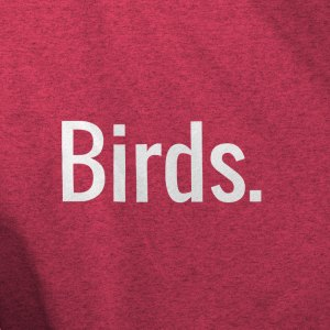 Birds. Shirt Heather Mockup