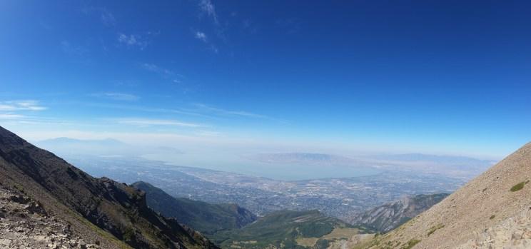 View of Utah Lake from the ridge