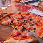Homemade pizza at Mamma Mia Pizzeria, in Accra, best restaurants in accra