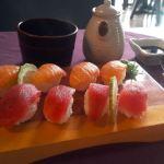 Sushi platter at Ninano Korean & Japanese Restaurant, in Accra