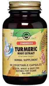 Solgar Standardized Turmeric Root Extract - best turmeric supplement