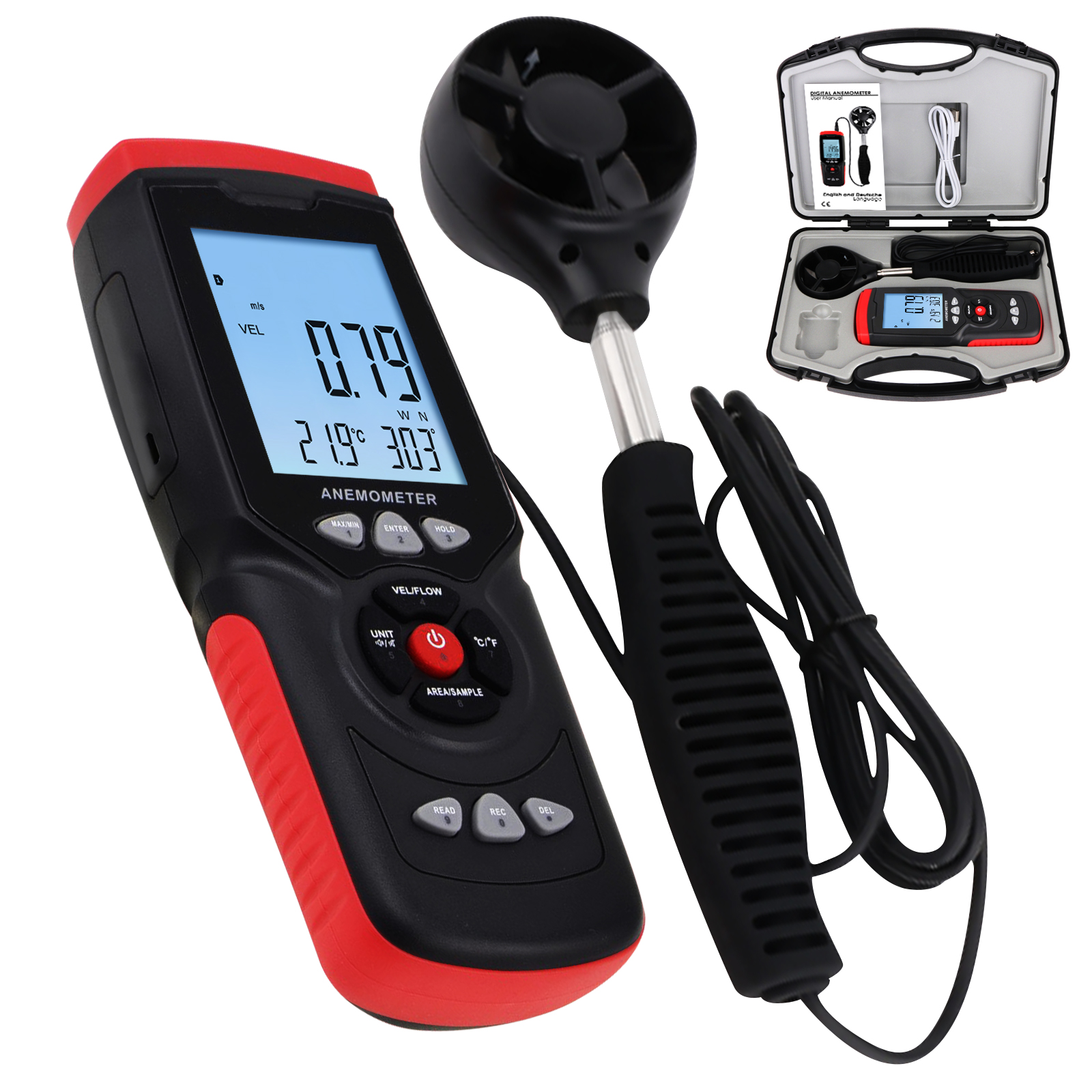 Anemometer Wind Direction Speed Velocity Tester Air Flow