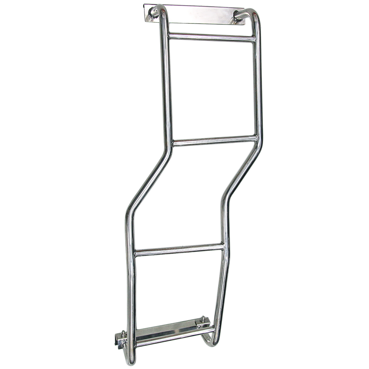 1x Rear Stainless Steel Roof Ladder For Mitsubishi Pajero