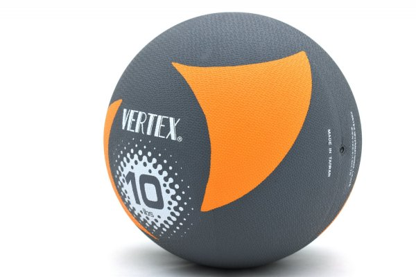 10lb Rubber Medicine Ball Weighted Fitness Workout Training Muscle Driver Vertex