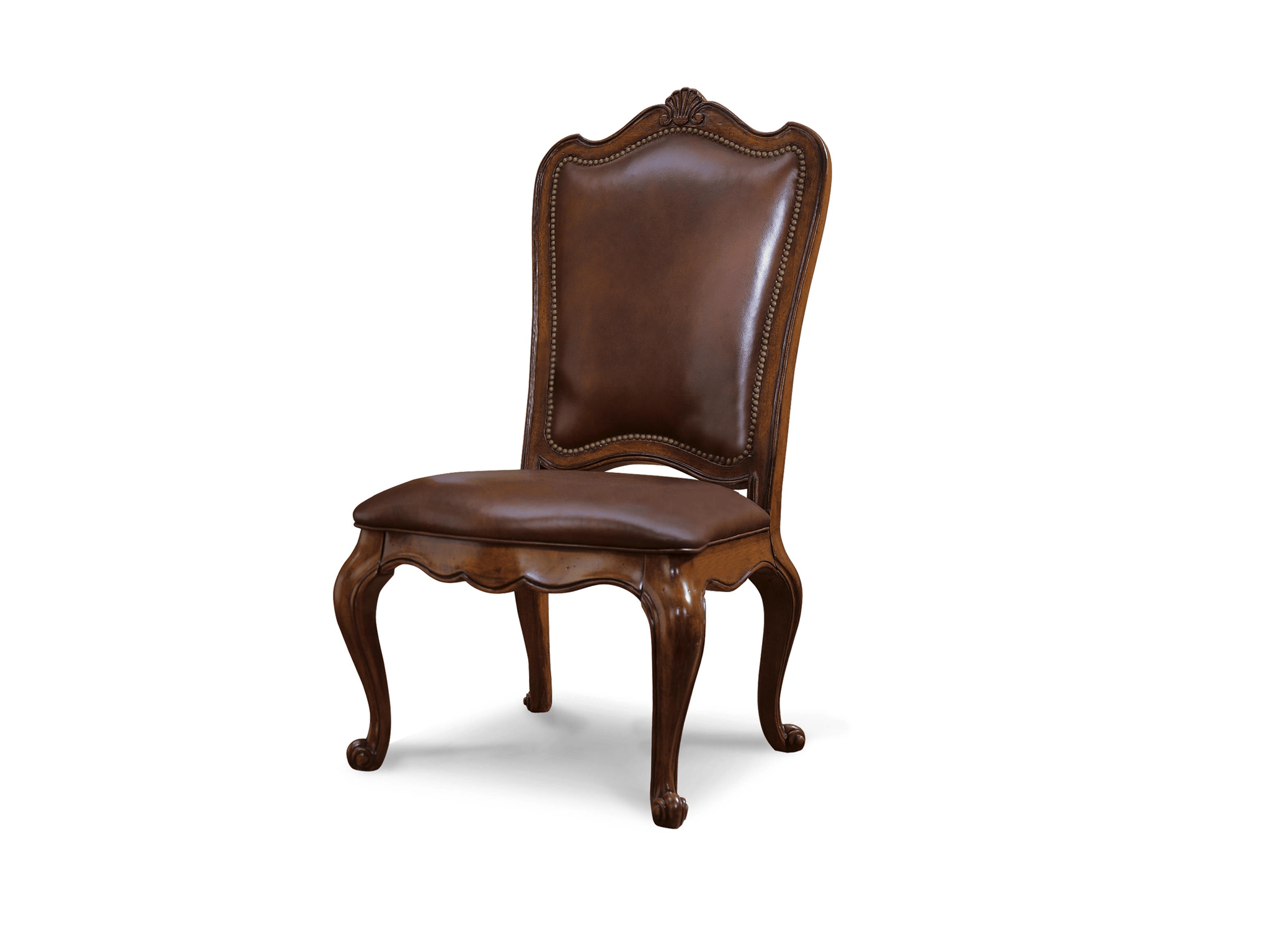 Leather Side Chair Universal Furniture Villa Cortina Leather Upholstered