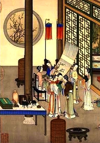 Ladies of the elite families in ancient China were normally culture lovers