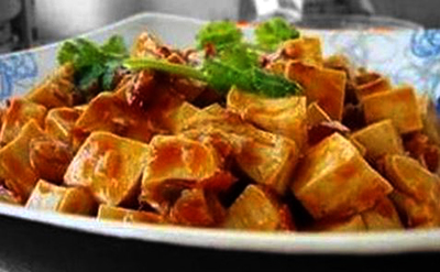 Spicy Tofu with Bean Sauce