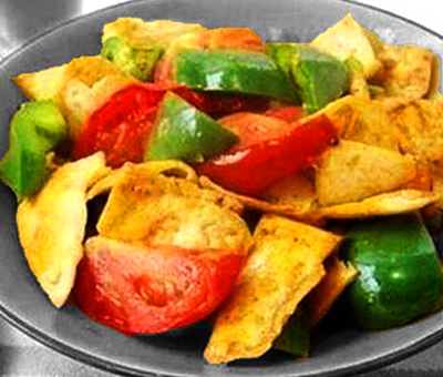 Tofu with Tomato and Capsicum