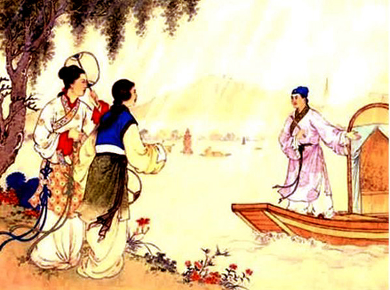 Xu Xian encountering a young lady