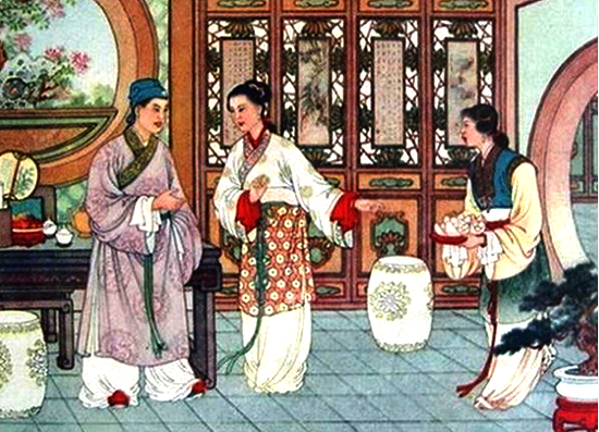 Xu Xian visiting the young lady