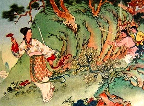 White snake stealing matical herb from Mt Emei