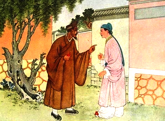 Mong Fahai telling Xu Xian his wife is not a human