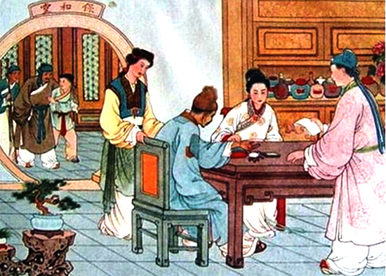 Xi Xian running a medicine store with the young lady now his wife