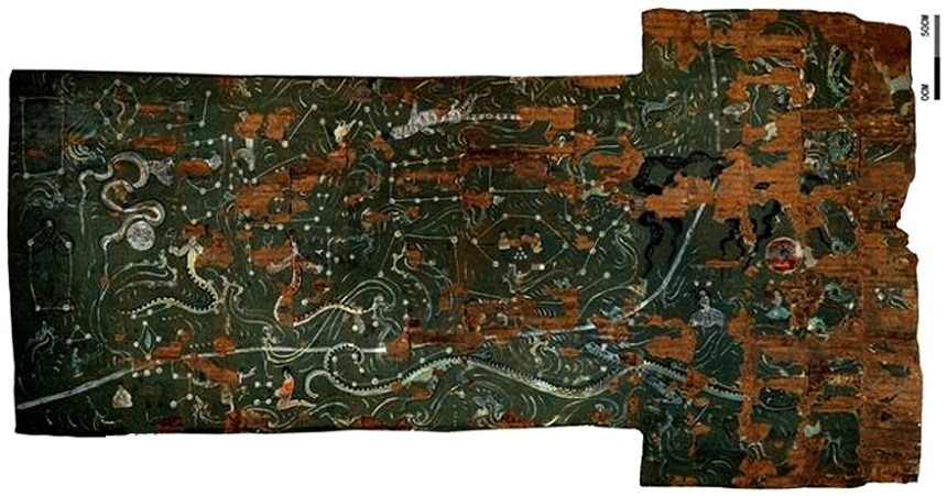 Han Dynasty map of 28 Constellations in the sky