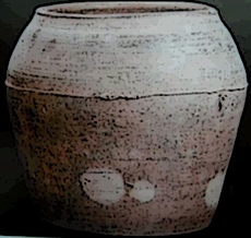 A ceramic pot unearthed from the offering altar site