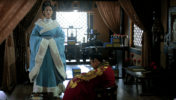Prince Yu and Lady Qin in his studio