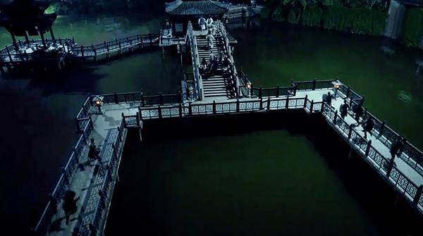 Bridges on the garden pond
