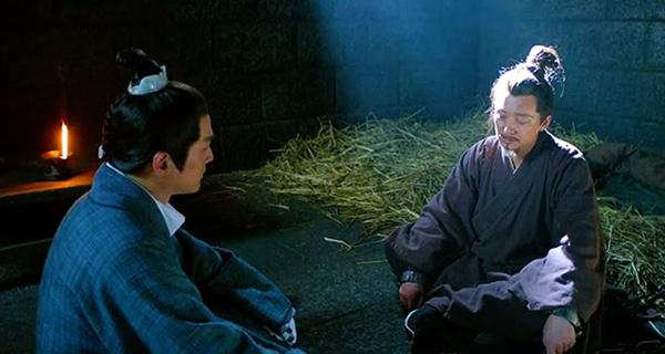 Mei Changsu talking with Marquis Xie in prison cell
