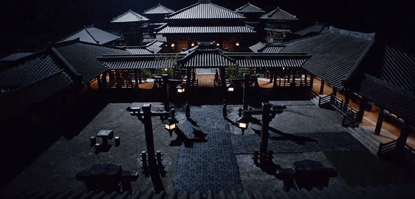 Prince Jing's mansion at night