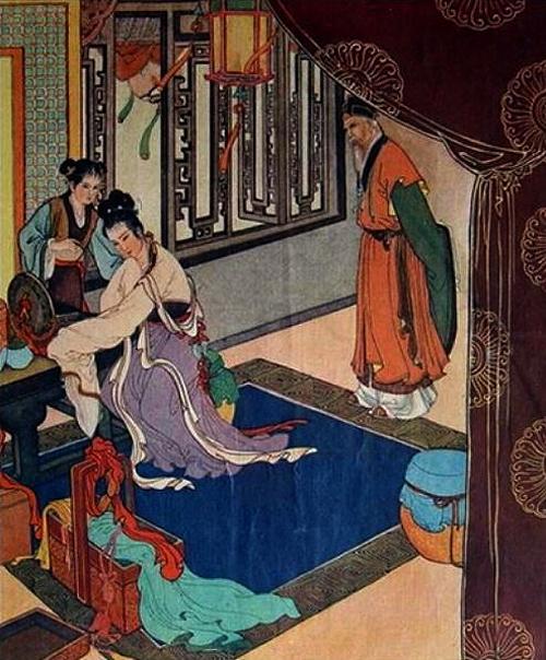 Zhu Yingtai receives a news of Liang Shanbo's death